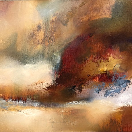 (CreativeWork) Silent Gorge by Joanne Duffy. Oil Paint. Shop online at Bluethumb.