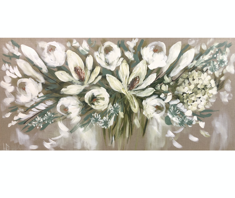 (CreativeWork) Winter white blooms  by Amanda Brooks. #<Filter:0x00007f1f971526e8>. Shop online at Bluethumb.