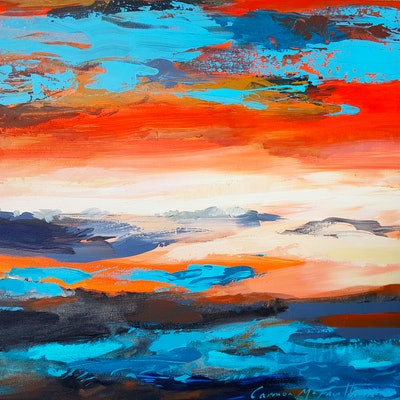 (CreativeWork) Sunset Moves by Carmen McFaull. #<Filter:0x00007fd6540d3b58>. Shop online at Bluethumb.
