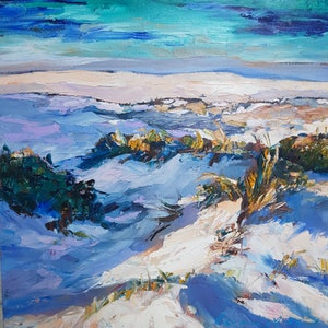 (CreativeWork) Dune Path by Carmen McFaull. oil-painting. Shop online at Bluethumb.