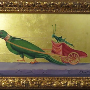 (CreativeWork) The Parrot and Grasshopper by Rob Davis. #<Filter:0x00007f5a090ec8c8>. Shop online at Bluethumb.