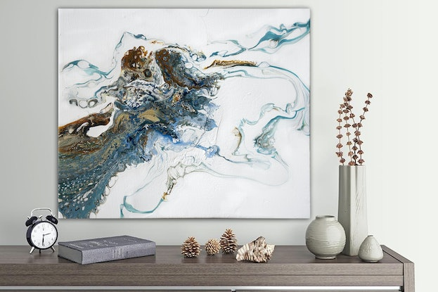 (CreativeWork) Coral Coast Abstract by Brigitte Ackland. #<Filter:0x00005589e95e5588>. Shop online at Bluethumb.