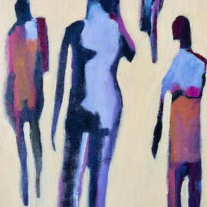 (CreativeWork) Intimacy in a digital age by Sharon Monagle. acrylic-painting. Shop online at Bluethumb.