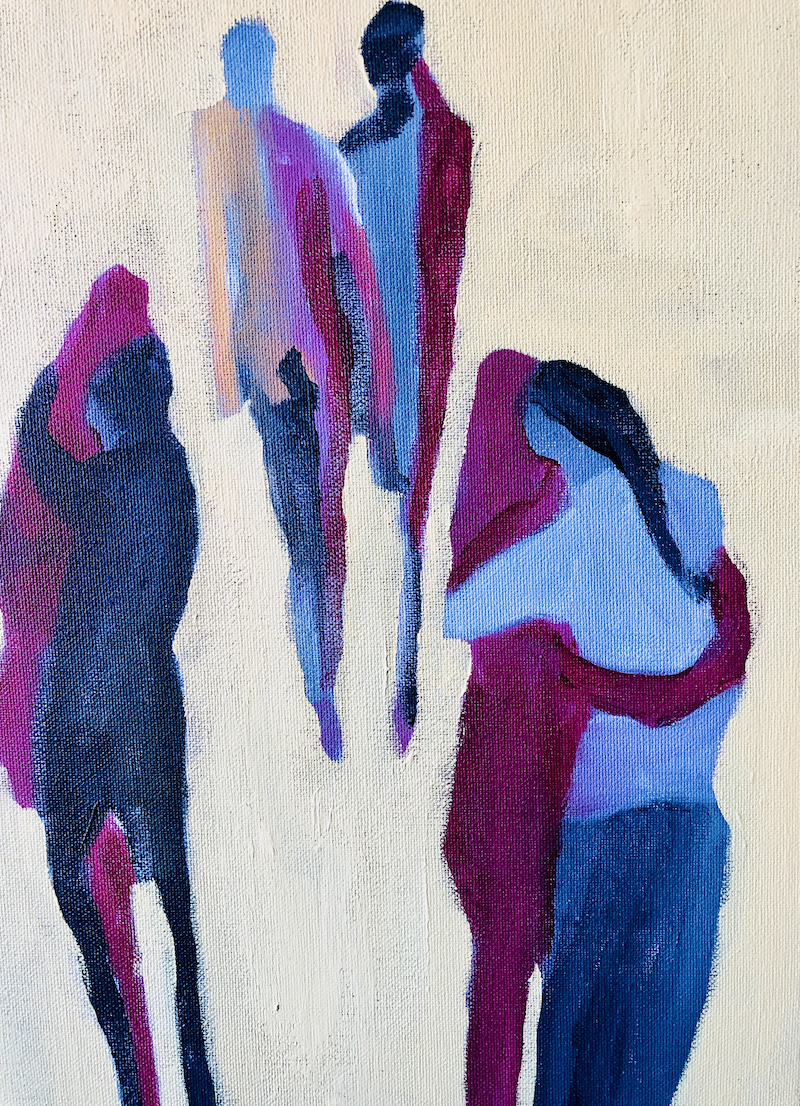 (CreativeWork) All of the lovers by Sharon Monagle. acrylic-painting. Shop online at Bluethumb.