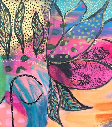 (CreativeWork) May My Love Always Be With You by Bec Schopen. Acrylic Paint. Shop online at Bluethumb.