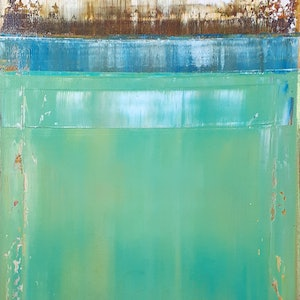 (CreativeWork) Green Sea  by Scott Maxwell. oil-painting. Shop online at Bluethumb.