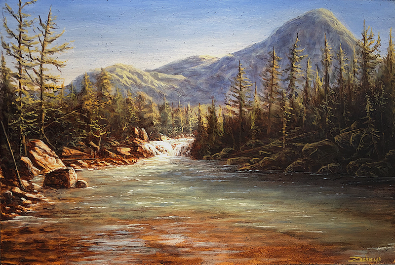 (CreativeWork) Spring Stream  by Zac Moynihan. Oil Paint. Shop online at Bluethumb.