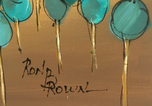 (CreativeWork) Flat plain trees by Ron Brown. Acrylic. Shop online at Bluethumb.