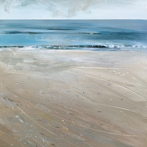 (CreativeWork) Home Beach, North Straddie by Trevor Salisbury. acrylic-painting. Shop online at Bluethumb.