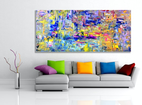 (CreativeWork) Future Dreaming by Estelle Asmodelle. Acrylic Paint. Shop online at Bluethumb.