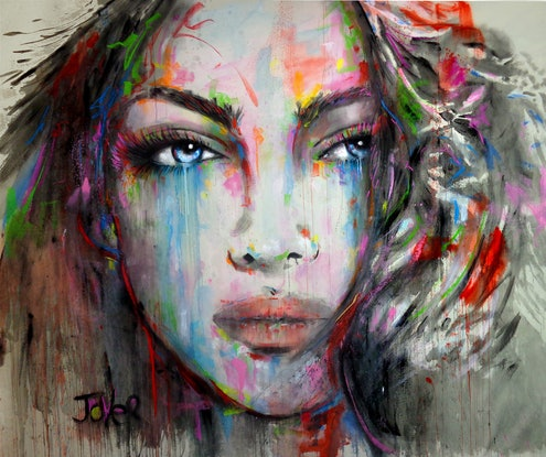 (CreativeWork) AARIA by loui jover. Acrylic Paint. Shop online at Bluethumb.