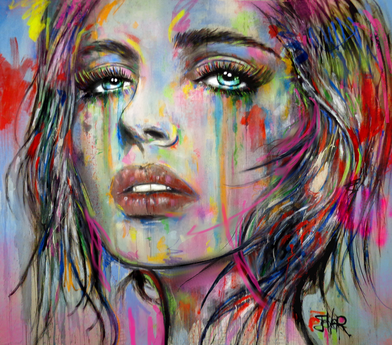 (CreativeWork) AARIA by loui jover. acrylic-painting. Shop online at Bluethumb.