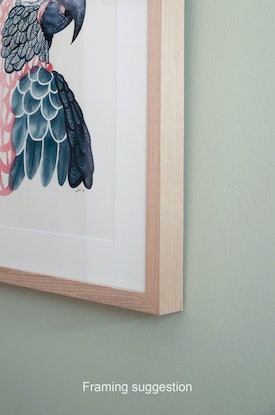 (CreativeWork) Forest Kingfisher – Watercolour A3  by Clare McCartney. Watercolour Paint. Shop online at Bluethumb.