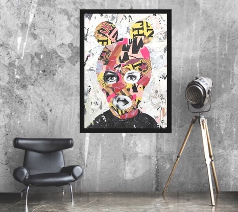 (CreativeWork) Street Icon 161 - Twiggy by Cold Ghost. Mixed Media. Shop online at Bluethumb.
