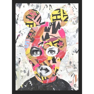 (CreativeWork) Street Icon 161 - Twiggy by Cold Ghost. mixed-media. Shop online at Bluethumb.