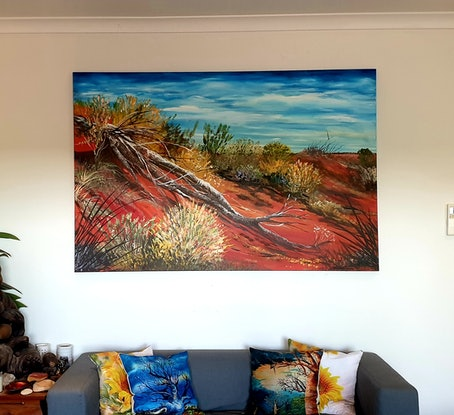 (CreativeWork) Pindan by Heather Murchie. Acrylic Paint. Shop online at Bluethumb.