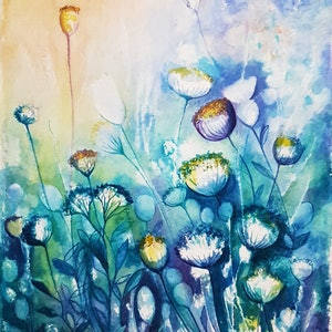 (CreativeWork) Spring Garden by Lucinda Leveille. Watercolour Paint. Shop online at Bluethumb.