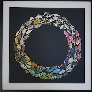 (CreativeWork) 'Swimming in Circles' - #2'  by Karen Coull. #<Filter:0x00007f44387e20b0>. Shop online at Bluethumb.