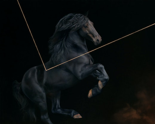 (CreativeWork) The Knight / Conflicted Reality by Brooke Walker. Oil Paint. Shop online at Bluethumb.