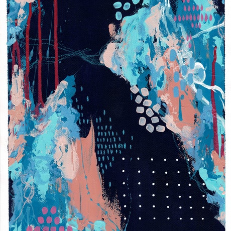 (CreativeWork) Night Sea No.1 by Cassy Turnbull. Mixed Media. Shop online at Bluethumb.