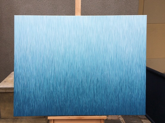 (CreativeWork) SILENT FLOW  122 x 81 cm acrylic painting on canvas   by George Hall. Acrylic Paint. Shop online at Bluethumb.