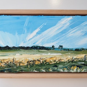 (CreativeWork) 'Pause'  -FRAMED- Byron Bay Hinterland landscape   by Michelle Keighley. oil-painting. Shop online at Bluethumb.