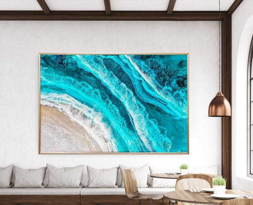 (CreativeWork) Emerald Tide by Emiley Rose. Resin. Shop online at Bluethumb.