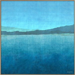 (CreativeWork) GRADUAL LAKE  by George Hall. acrylic-painting. Shop online at Bluethumb.