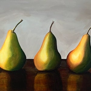 (CreativeWork) More than a pear by Hayley Kruger. acrylic-painting. Shop online at Bluethumb.