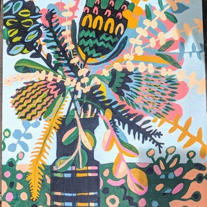 (CreativeWork) Native Summer by Jacqueline Christians. acrylic-painting. Shop online at Bluethumb.