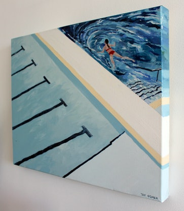 (CreativeWork) Float by Tim O'Shea. Oil Paint. Shop online at Bluethumb.