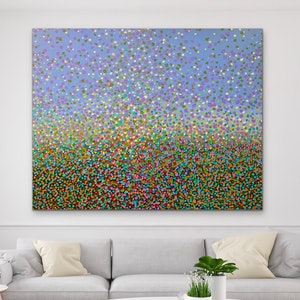 (CreativeWork) Field of Petals  by Theo Papathomas. acrylic-painting. Shop online at Bluethumb.