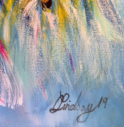 (CreativeWork) Feathering Touch by Carol Lindsay. Mixed Media. Shop online at Bluethumb.