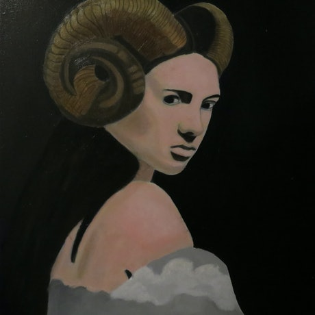 (CreativeWork) The Satyrs Wife by Tony E Perks. Oil Paint. Shop online at Bluethumb.