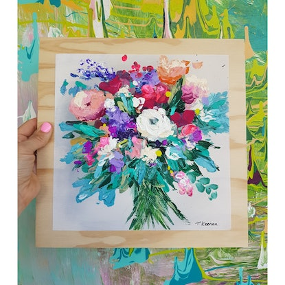 (CreativeWork) You Are So Beautiful to Me by Tanya Keenan. Acrylic Paint. Shop online at Bluethumb.