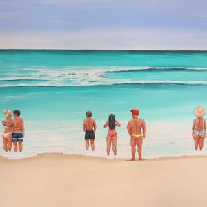 (CreativeWork) Drawn by the sea by Andrea Berry. acrylic-painting. Shop online at Bluethumb.