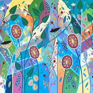 (CreativeWork) Blooming Marvelous by Lisa Frances Judd. acrylic-painting. Shop online at Bluethumb.