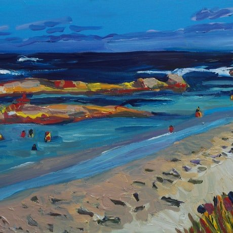 (CreativeWork) Green Pool, Denmark WA by Steven Pooley. Acrylic Paint. Shop online at Bluethumb.