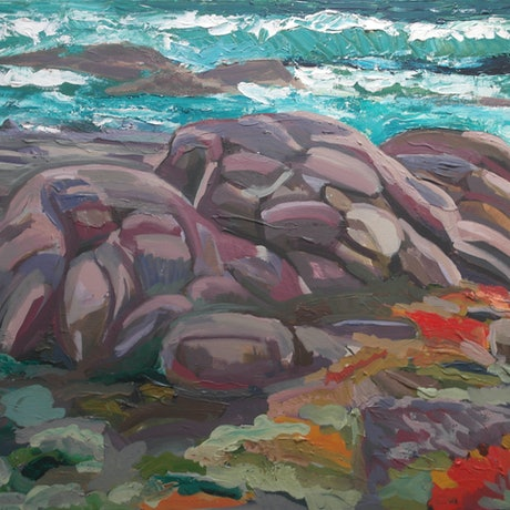(CreativeWork) Gracetown South Point, WA by Steven Pooley. Acrylic Paint. Shop online at Bluethumb.