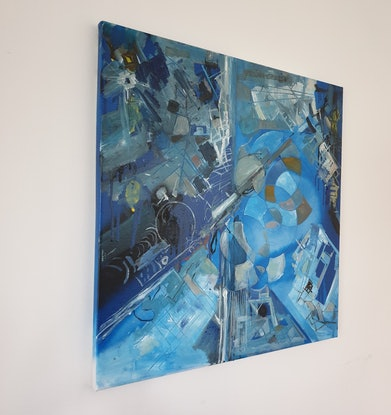 (CreativeWork) Polis by Tim Nash. Oil Paint. Shop online at Bluethumb.