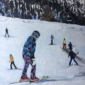 (CreativeWork) On The Mountain by Gina Fishman. acrylic-painting. Shop online at Bluethumb.