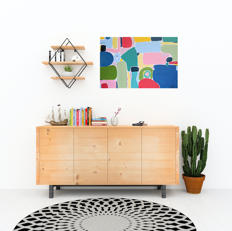 (CreativeWork) I'm going this way by Ellen McKenna. Acrylic Paint. Shop online at Bluethumb.