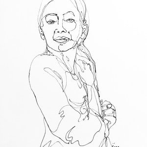 (CreativeWork) Don't Let Go - Girl by Irma Calabrese. drawing. Shop online at Bluethumb.