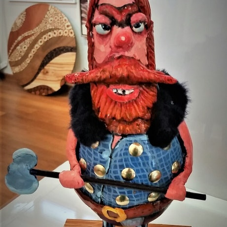 (CreativeWork) OLAF THE 'ÓRRIBLE! - VIKING by Robert Den Ronden. Other Media. Shop online at Bluethumb.