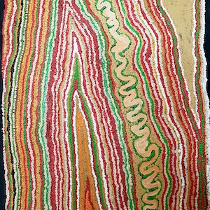 (CreativeWork) Wati Kutjarra  #13-333 by Jimmy Donegan. Acrylic Paint. Shop online at Bluethumb.