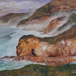 (CreativeWork) Towards Cape Raoul by Christopher Johnston. #<Filter:0x00007ff7c8ddb068>. Shop online at Bluethumb.