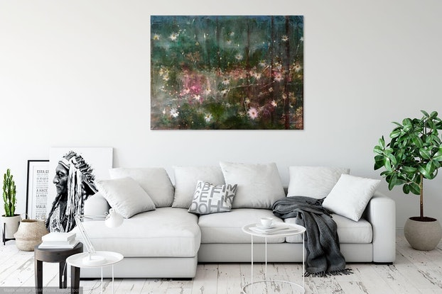 (CreativeWork) Into The Wild by Louise Croese. Acrylic Paint. Shop online at Bluethumb.