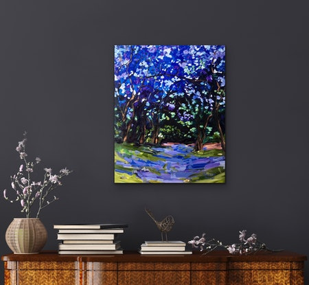 (CreativeWork) Jacarandas of Woonga  by Meredith Howse. Other Media. Shop online at Bluethumb.