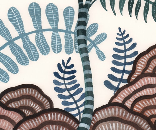 (CreativeWork) Fairy Forest 3 by Sally Browne. Watercolour Paint. Shop online at Bluethumb.