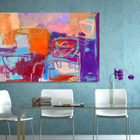 (CreativeWork) Seven Wonders by Dan Mason. Oil Paint. Shop online at Bluethumb.